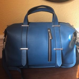 NWT - Royal Blue Italian Leather Crossbody Bag
